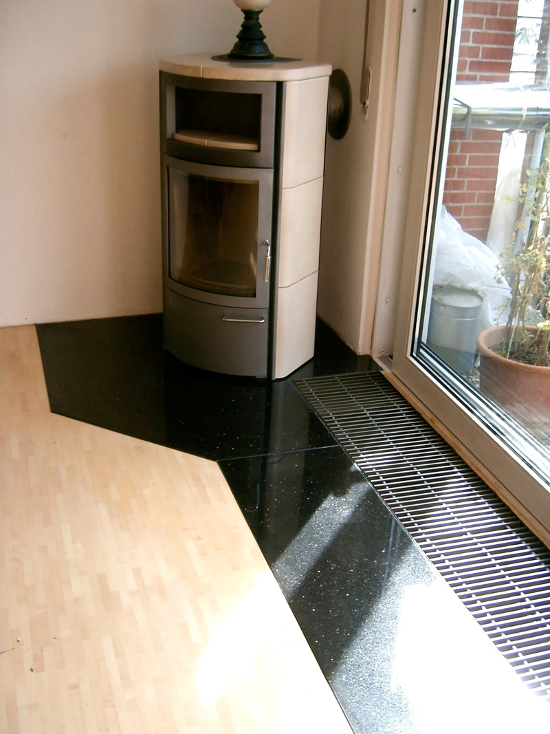Granitbodenplatte Kaminofen