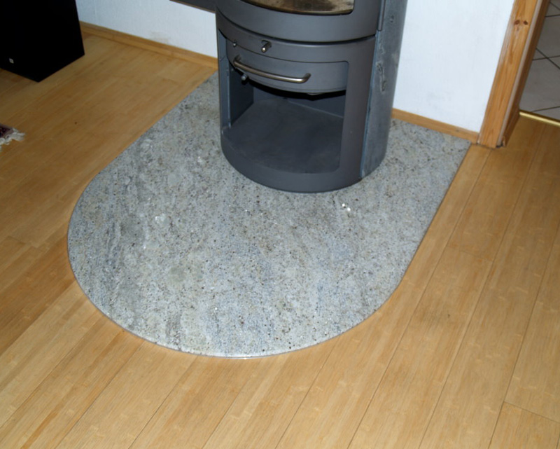 Ofen Kamin Bodenplatte Granit