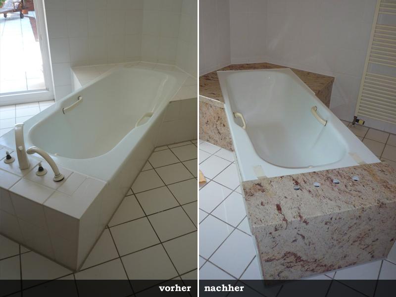 Badewanne Renovierung Granit